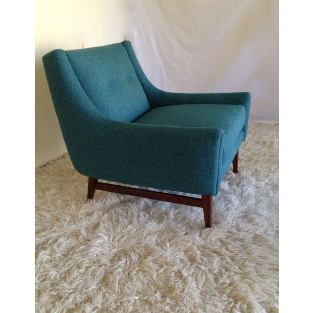 Image of MCM Lounge Chair W/ New Upholstery and Teak Base