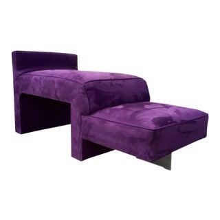 Vladimir Kagan Purple Omnibus Lounge Chair