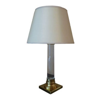 Restoration Hardware Glass & Brass Table Lamp