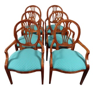 Henredon Natchez Shield Back Dining Chairs - Set 6