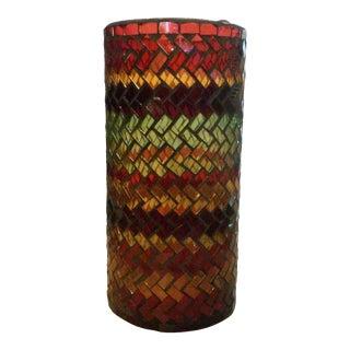 Mosaic Cylinder Glass Vase