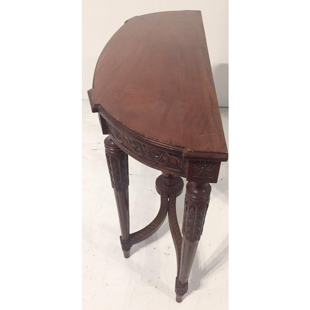 Image of Antique Mahogany Demi-lune Table