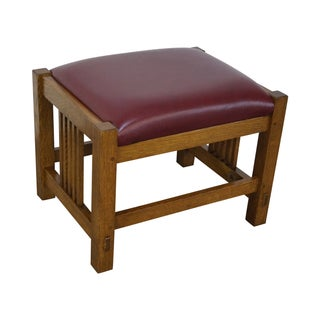 Stickley Mission Oak Ottoman Foot Stool