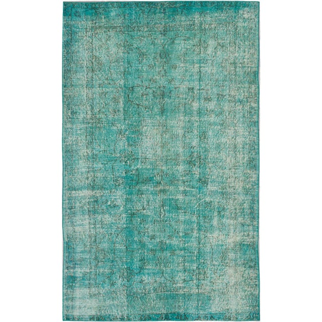 "Image of Green Turkish Overdyed Rug - 5'4"" X 8'6"""