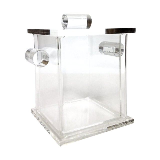 Image of Vintage Lucite Cube Ice Bucket