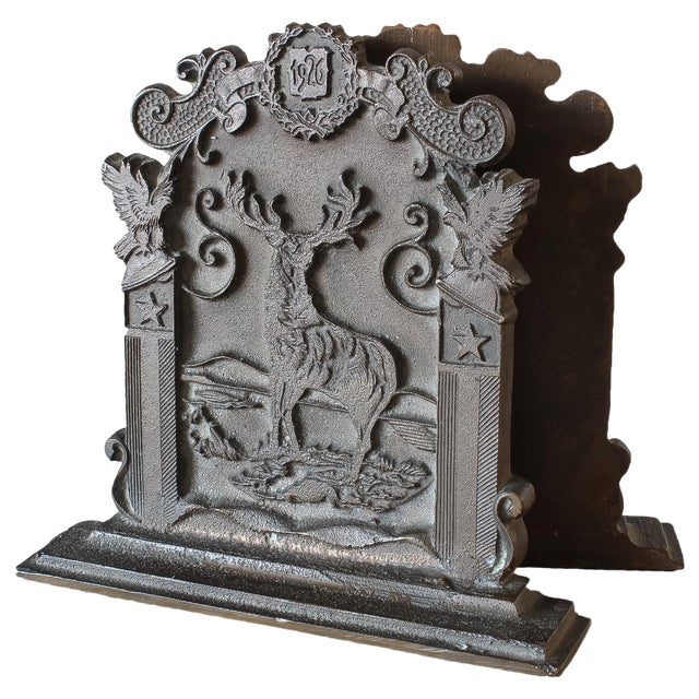Antique Fraternal Bronze Elks Club Bookends - Pair - Image 1 of 8