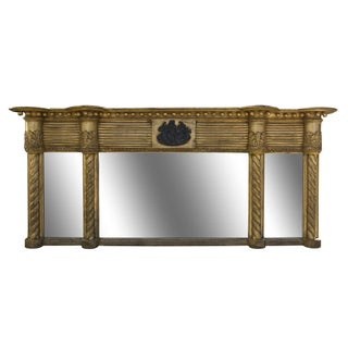 Antique Early 19th Century Mantel Mirror