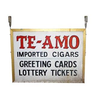 'Te-Amo' Metal Shop Sign