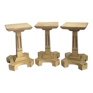 Petite Wooden Columns- Set of 3