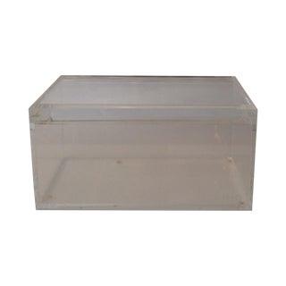 Minimalist Modern Bino Clear Lucite Box