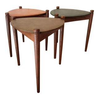 Lu Van, Inc. Mid Century Modern Guitar Pick Nesting Tables - Set of 3