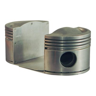 Machine Age Bookends, Solid Aluminum Pistons