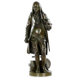 Benjamin Franklin Bronze Sculpture by Jean-Jules Salmson