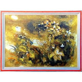 Floral Serigraph by Dietrich Grunewald