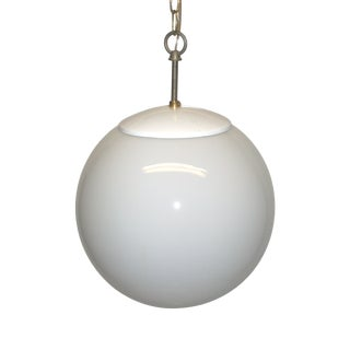 White Glass Globe Hanging Light