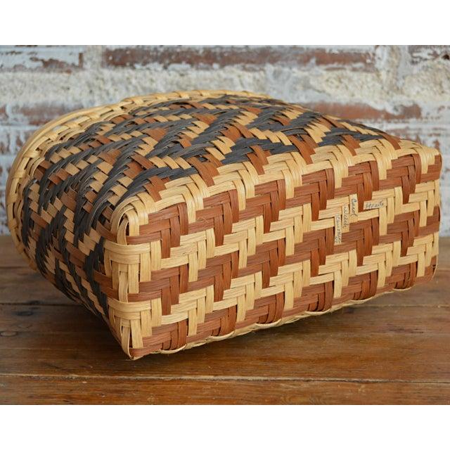 Carol Welch Cherokee White Oak Purse Basket - Image 8 of 10