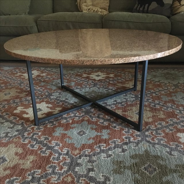 """Room & Board 36"""" Round Granite Table Top Only - Image 2 of 4"""