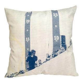 Blue & White Photorealism Pillow