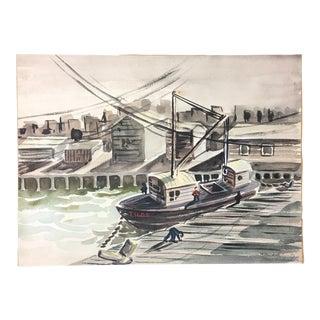 1952 Marine Watercolor Unframed