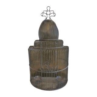 Vintage European Style Brass Birdcage