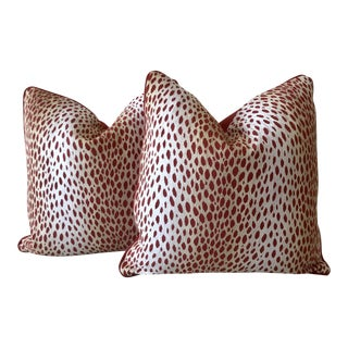 Red Antelope Pillows - A Pair