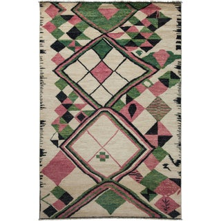 """Moroccan Hand-Knotted Rug - 6'1"""" x 9'2"""""""