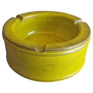 Midcentury Danish Green Pottery Ashtray