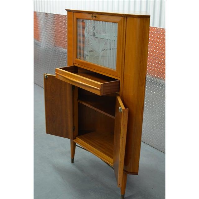 Mid-Century Scandinavian Corner Bar Cabinet - Image 5 of 7