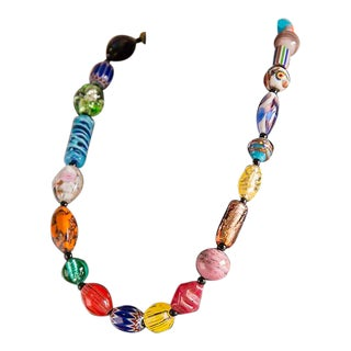 Vintage Venetian Glass Bead Necklace by Ercole Moretti, Italy