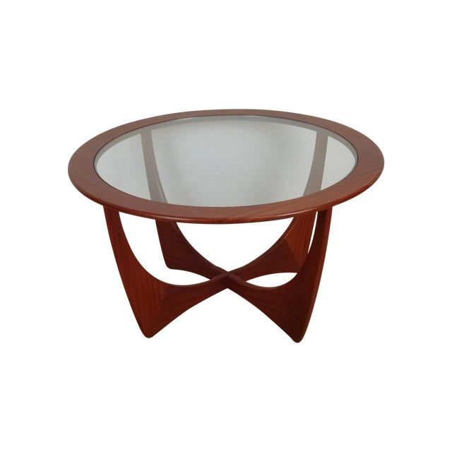 G-Plan Round Astro Glass Coffee Table - Image 1 of 5