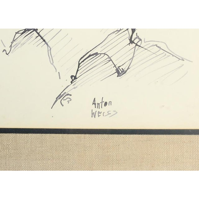 Anton Weiss Original Pen and Ink Drawing - Image 3 of 4