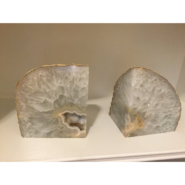 Image of Large Agate Bookends - A Pair