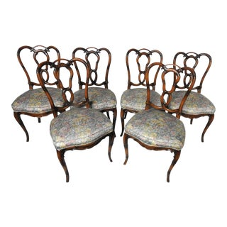 Set of 6 Regency Style Faux Bamboo Chairs