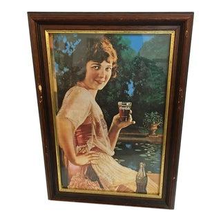 Vintage Framed Coca Cola Ad