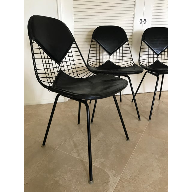 Eames for Herman Miller Black DKR-2 Bikini Chairs - Set of 4 - Image 4 of 11
