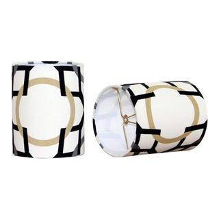 Chandelier Drum Lamp Shades - A Pair