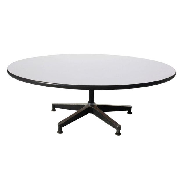 Eames for herman miller revolving coffee table chairish for Revolving end table