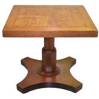 Baker Single Pedestal Side Table