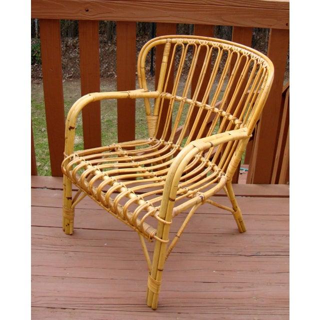 Franco Albini Mid Century Rattan Bentwood Chair Chairish