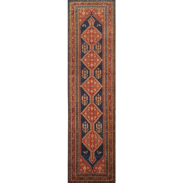 "Pasargad Antique Malayer Wool Area Rug- 4' 0"" X 14' 0"" - Image 1 of 2"