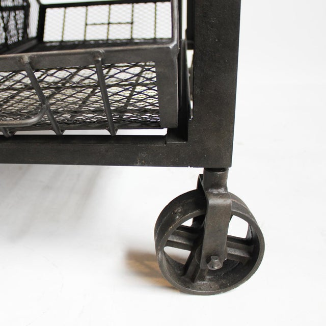 Industrial Iron Cart Coffee Table - Image 4 of 4