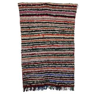 Boucherouite Carpet - 4′ × 6′