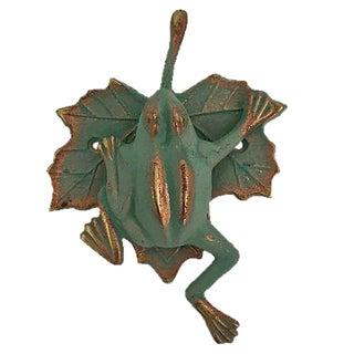 Green & Gold Frog Door Knocker