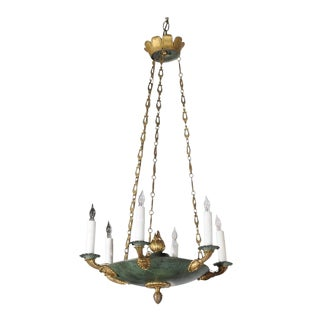 French Empire Style Early 20th Century Small Size Six-Light Chandelier