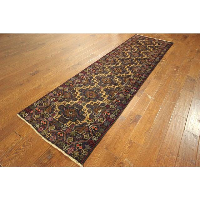 """Tribal Baluch Wool Runner Rug - 2'9"""" x 10' - Image 4 of 9"""