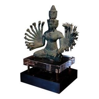 A Khmer Bronze Figure of Prajnaparamita with Eleven Faces