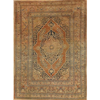 """Pasargad NY Antique Persian Tabriz Haji Jalili Rug - 4'1"""" x 5'6"""""""
