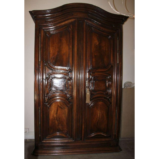 Image of 18th Century Louis XV Walnut Carved Armoire
