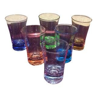 Modern Colorful Shot Glasses - Set of 6