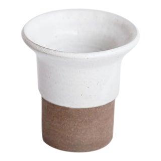 Brown & White Ceramic Vase